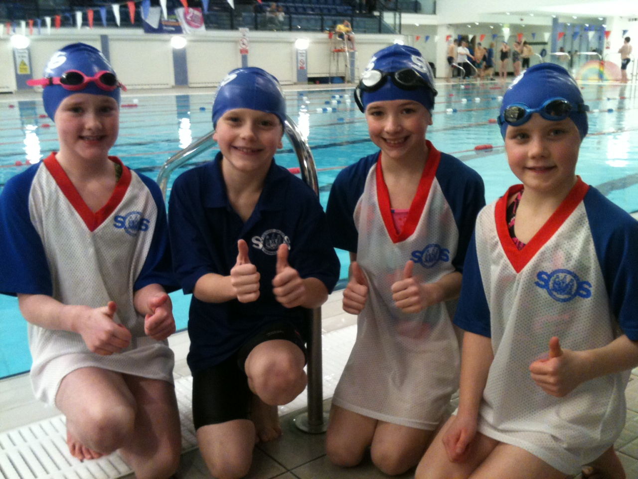 Nine Year Old Quartet Showcase Their Talents At Southend On Sea Swimming Club Southend On Sea